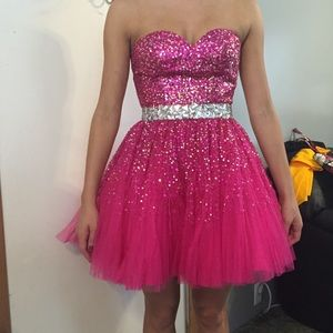 Pink Sherri Hill prom dress size 2